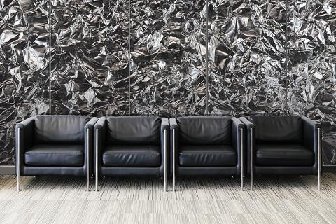 Feature wall in ViviSpectra Zoom glass with Foil interlayer